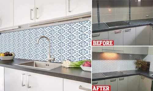 Shoppers are updating home using $25 stick-on tiles from Kmart