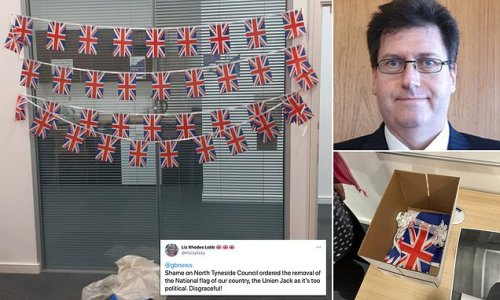Council's law chief demands Tories take down the Union Jacks at office