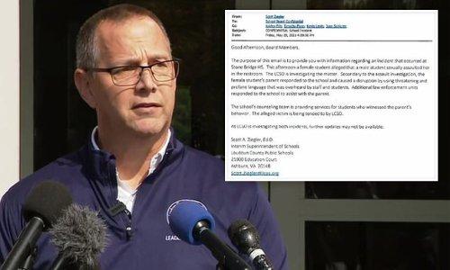 VA school superintendent reported assault to school board the day of
