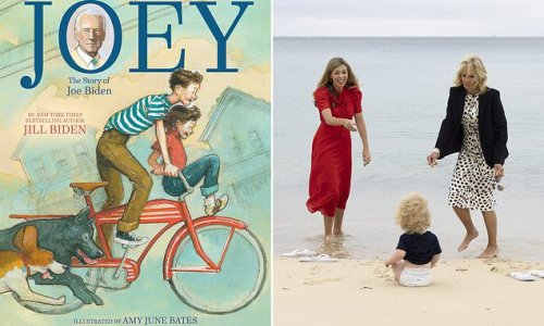 US First Lady Jill Biden gives PM's son Wilfred a book called Joey