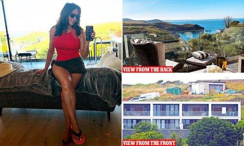 Behind Carol Vorderman's £350,000 property is an ugly building site