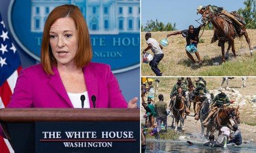 Jen Psaki: 'We will no longer be using horses in Del Rio'