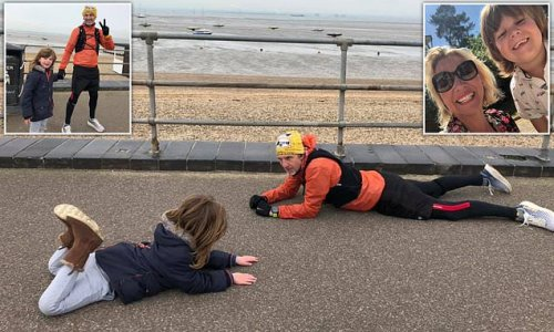 Mother praises 'hero' for lying on the floor to calm her autistic son
