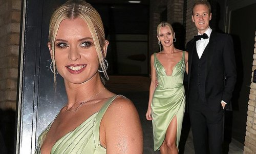 Strictly's Nadiya Bychkova oozes elegance in a green thigh-split dress