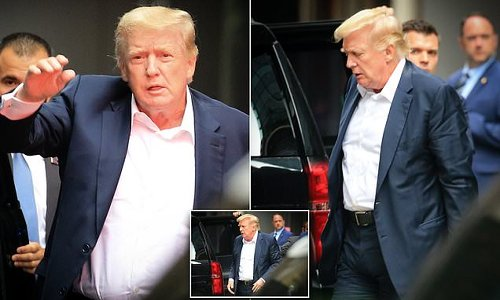 Trump seen in public for first time since revelations his DoJ 'spied'