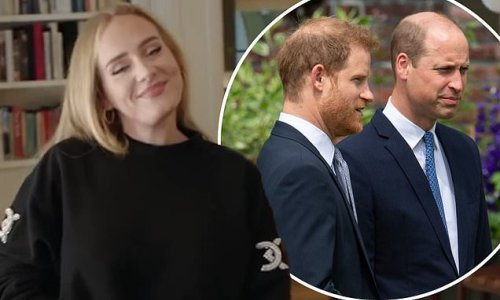 Adele cheekily chooses between Prince William and Prince Harry