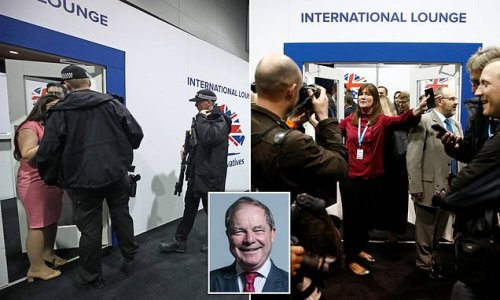 Tory MP 'pecked young woman with finger in party conference bust-up'