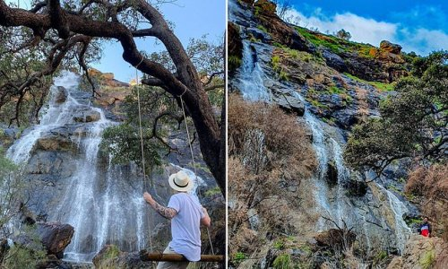 Aussies flock to spectacular waterfalls near major city