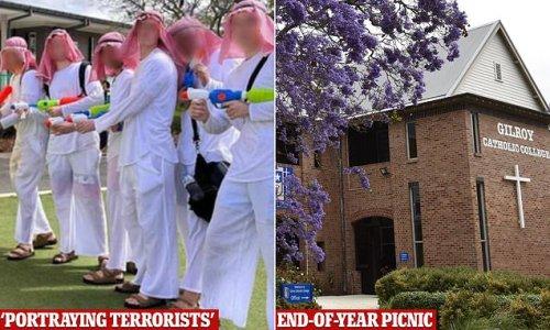 Year 12 students dress as 'terrorists' at western Sydney school
