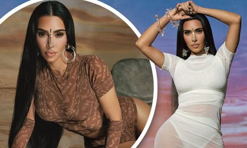 Kim Kardashian looks out of this world in Summer Mesh SKIMS collection