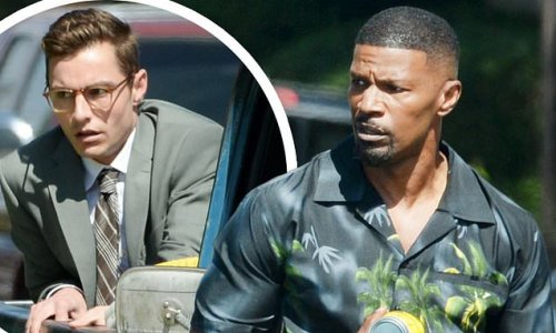 PICTURED: Jamie Foxx and Dave Franco on the set of Day Shift in LA