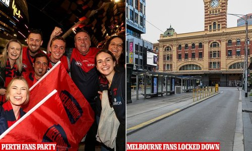 Perth parties hard into the night after hosting first AFL Grand Final