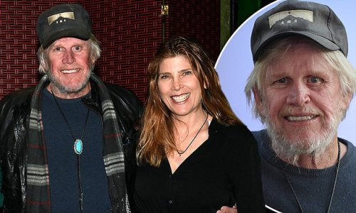 Gary Busey, 76, attends a comedy show with his wife Steffanie, 46