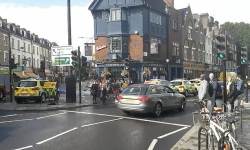 Man rushed to hospital after he 'set himself on fire' in Camden