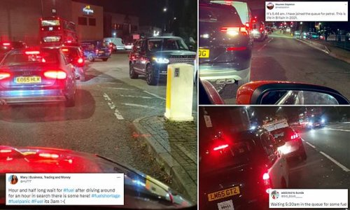 'Wild West' petrol panic: Drivers spend night hunting for fuel