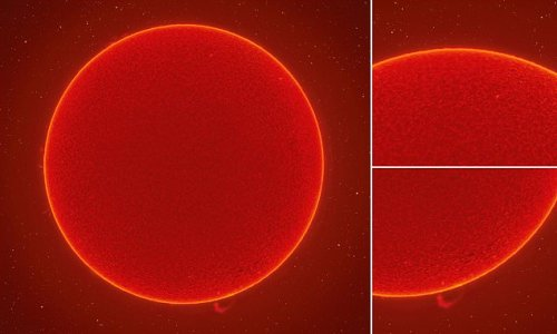 Astrophotographer snaps his 'clearest ever photo of the SUN'