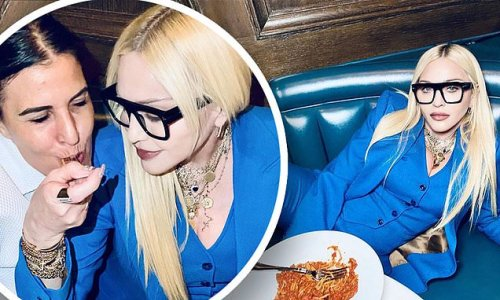 Madonna relaxes macrobiotic diet while enjoying pasta feast with BFF