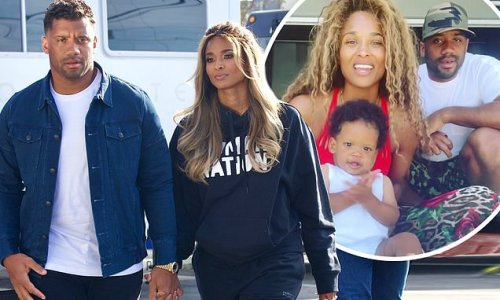 Ciara and Russell hold hands leaving set of NBC vaccine special