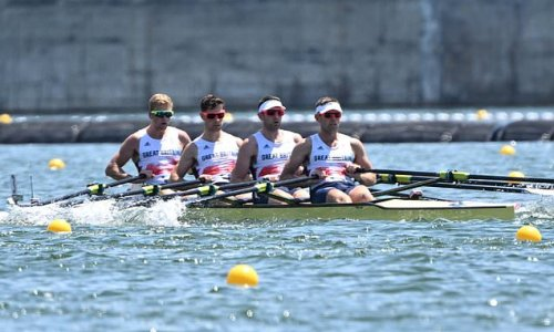 Team GB win silver in the rowing men's quadruple sculls