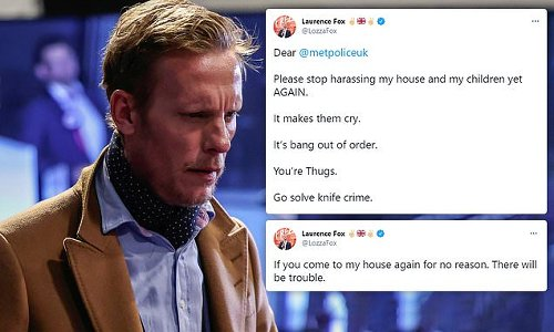 Laurence Fox accuses Met of harassment after officers visited his home