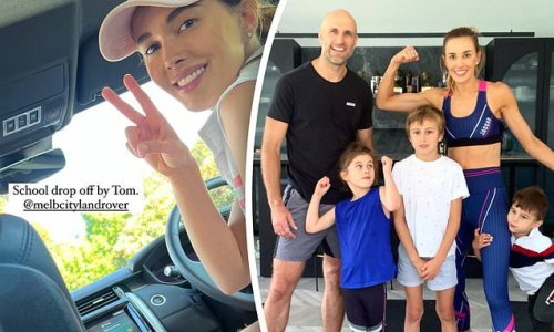 Bec Judd celebrates Freedom Day and takes her children to school