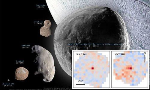 Megacomet C/2014 UN271 likely bigger than Mars' moon Phobos