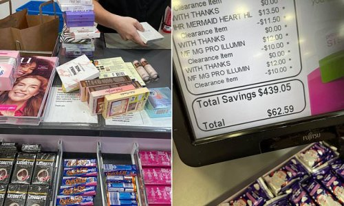 How shopper saved a staggering $439 on makeup products from a pharmacy