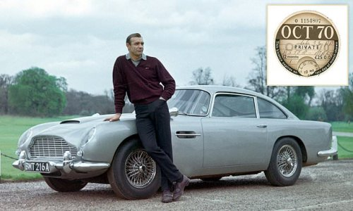 Tax disc issued to Aston Martin driven by Sean Connery fetches £25,000