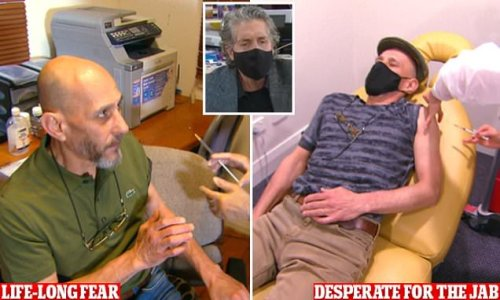 Hynotherapy helps a man overcome his fear of needles and get vaccine
