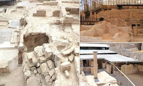 Rock-cut Roman dining room uncovered in Turkey's 'House of the Muses'