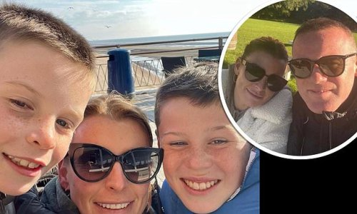 Coleen Rooney shares a sweet snap with her sons Kai and Klay