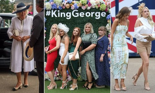 Racing fans arrive for the King George Diamond Weekend at Ascot