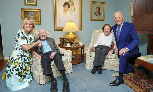 Carter Library releases odd photo of the Bidens visiting Carters