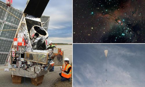 Telescope to be launched on giant stadium-sized balloon