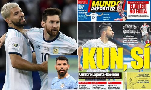 Barcelona 'give green light to a move for Sergio Aguero this summer'
