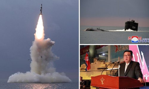 Moment North Korea fires new ballistic missile from submarine