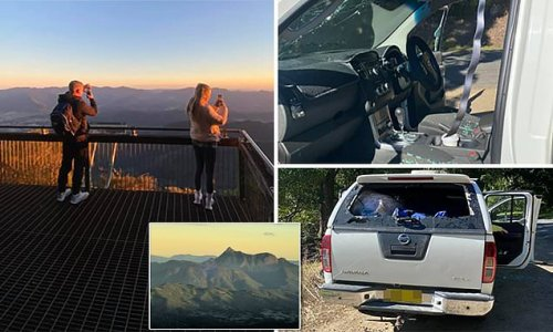 Backpackers car windows SMASHED after hiking up a sacred mountain