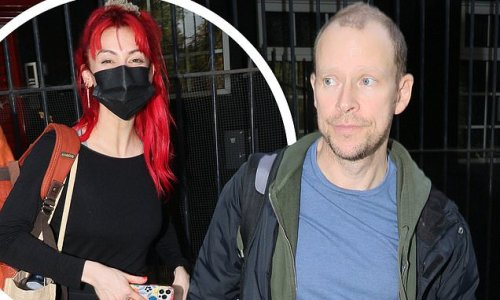 Robert Webb and Dianne Buswell look exhausted after Strictly training