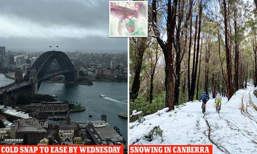 Freezing cold snap will last until WEDNESDAY after an Antarctic front