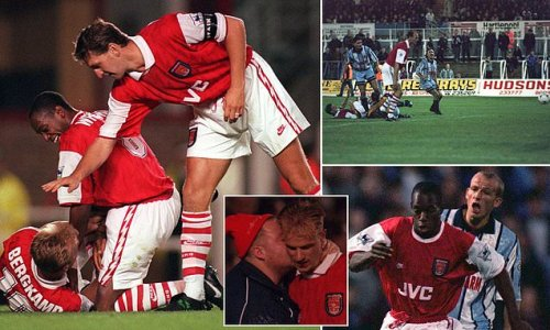 Ian Wright starred last time Arsenal played EFL Cup second-round tie