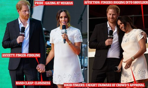 Prince Harry lets Meghan Markle to take the 'lead' during event