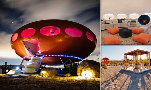 Airbnb in the Californian desert is shaped just like a flying saucer