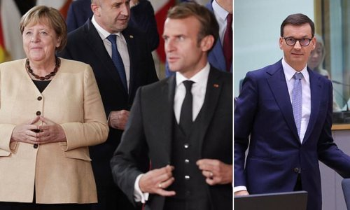 Angela Merkel blasts Macron and his allies over threats to Poland