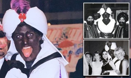 New photo of Justin Trudeau in blackface at Arabian Nights party