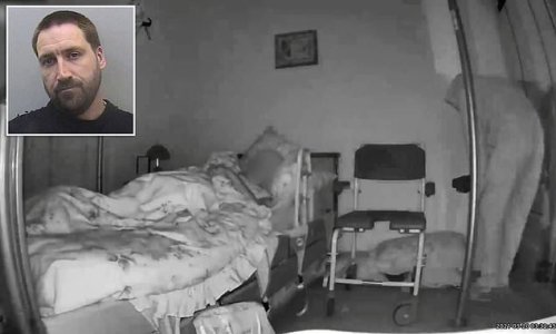 CCTV captures moment 87-year-old pensioner watches burglar creep in