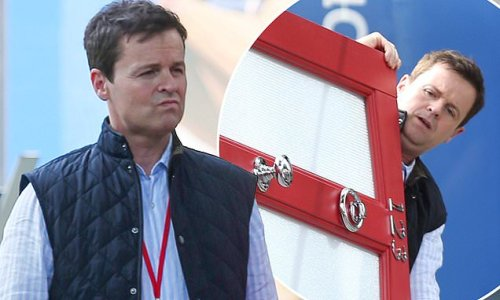 Declan Donnelly looks deep in thought in a stylish quilted gilet