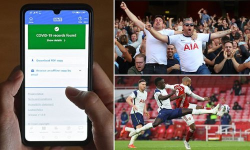 Spurs to trial Covid passports in their friendly against Arsenal