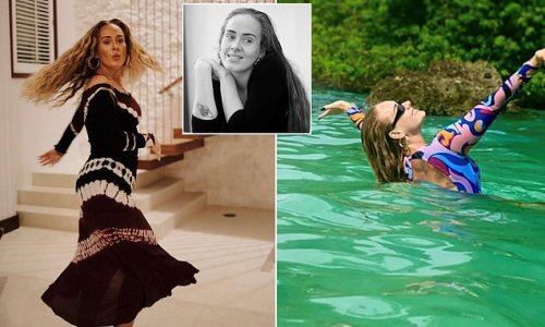 Make-up free Adele shares pictures on her 33rd birthday
