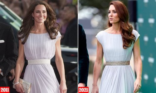 Kate Middleton upcycled 2011 Alexander McQueen dress with 2018 belt
