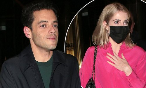 Rami Malek steps out for a romantic date night with Lucy Boynton